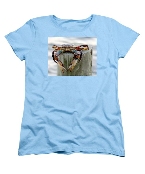 Crab Hanging Out Women's T-Shirt (Standard Cut) by Luana K Perez