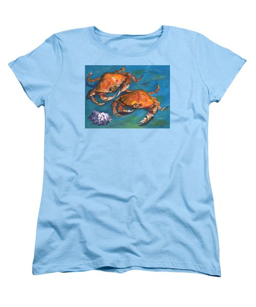 Crabs Women's T-Shirt (Standard Cut) by Susan Thomas