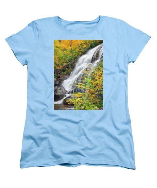 Crabtree Falls In The Fall Women's T-Shirt (Standard Cut) by David Cote