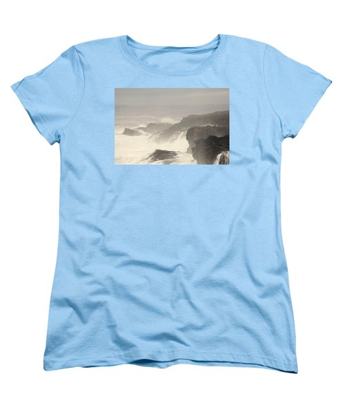 Crashing Waves Women's T-Shirt (Standard Cut) by Angi Parks