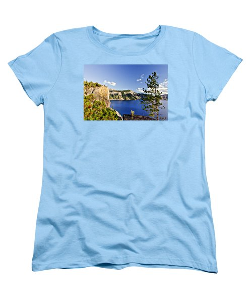 Crater Lake II Women's T-Shirt (Standard Cut) by Albert Seger