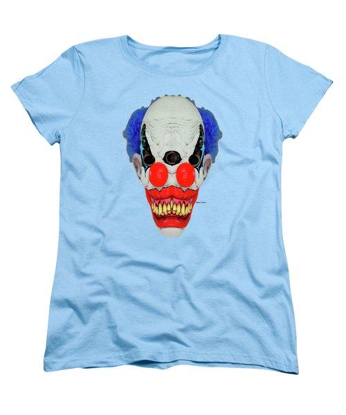 Creepy Clown Women's T-Shirt (Standard Cut) by Rafael Salazar