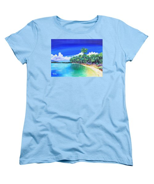 Crescent Beach Women's T-Shirt (Standard Cut) by Patricia Piffath