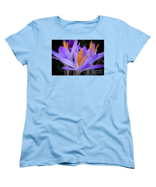 Women's T-Shirt (Standard Cut) featuring the photograph Crocus Explosion by Douglas Stucky