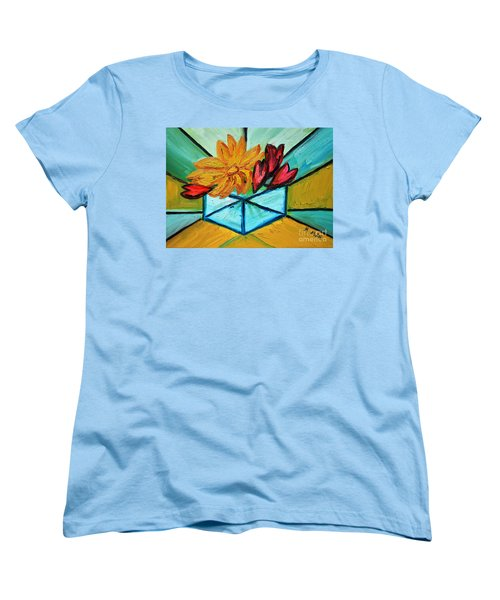 Cubes Women's T-Shirt (Standard Cut) by Ramona Matei