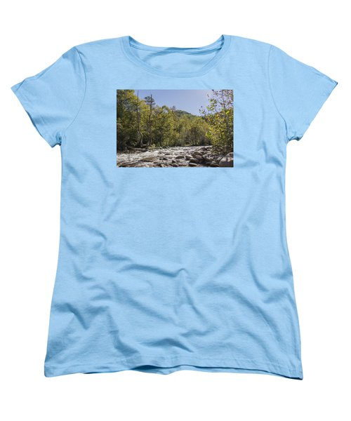 Crooked Tree Curve Women's T-Shirt (Standard Cut) by Ricky Dean