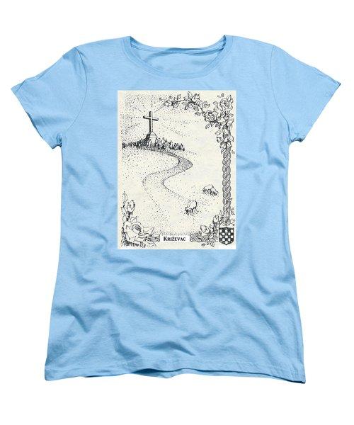 Cross Mt, Medjugorje  Women's T-Shirt (Standard Cut) by Christina Verdgeline