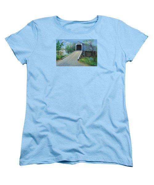 Crossing At The Covered Bridge Women's T-Shirt (Standard Cut)