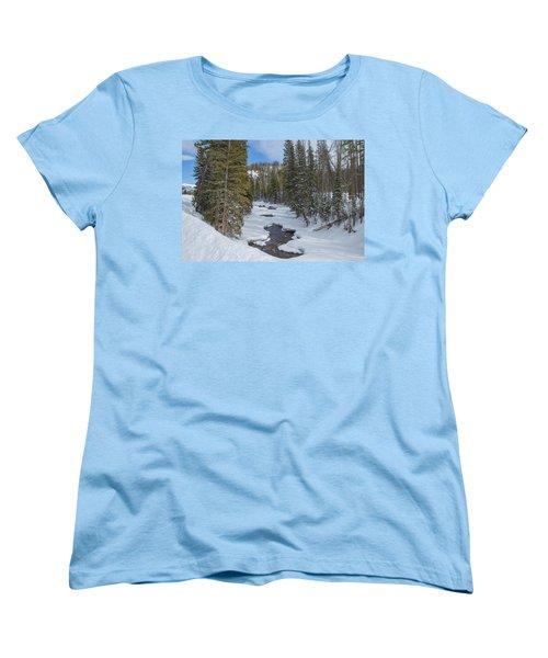 Crossing The Elk Women's T-Shirt (Standard Cut) by Sean Allen