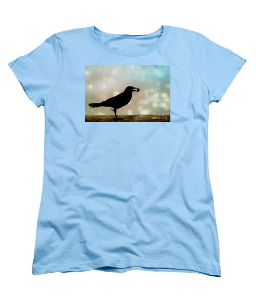 Women's T-Shirt (Standard Cut) featuring the photograph Crow With Pistachio by Benanne Stiens
