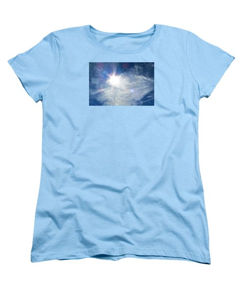 Women's T-Shirt (Standard Cut) featuring the photograph Crows Above by Brenda Pressnall