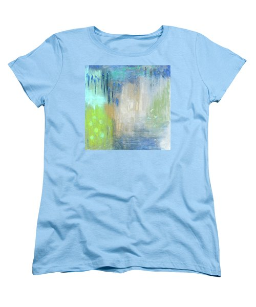 Women's T-Shirt (Standard Cut) featuring the painting Crystal Deep  by Michal Mitak Mahgerefteh