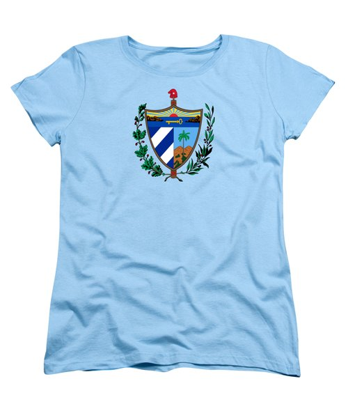 Women's T-Shirt (Standard Cut) featuring the drawing Cuba Coat Of Arms by Movie Poster Prints