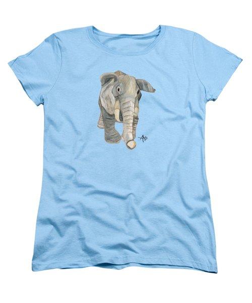 Cuddly Elephant Women's T-Shirt (Standard Cut) by Angeles M Pomata