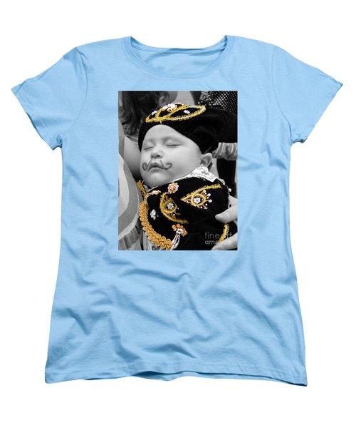 Women's T-Shirt (Standard Cut) featuring the photograph Cuenca Kids 891 by Al Bourassa