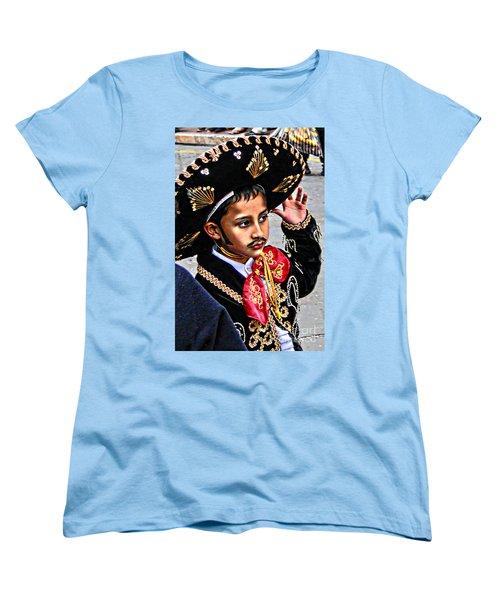 Women's T-Shirt (Standard Cut) featuring the photograph Cuenca Kids 897 by Al Bourassa