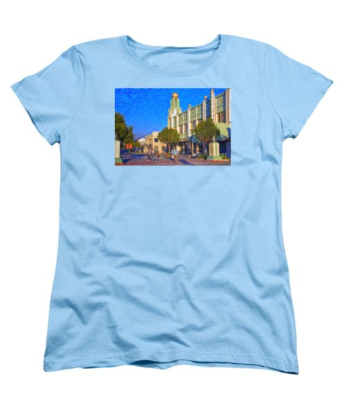 Culver City Plaza Theaters   Women's T-Shirt (Standard Cut) by David Zanzinger