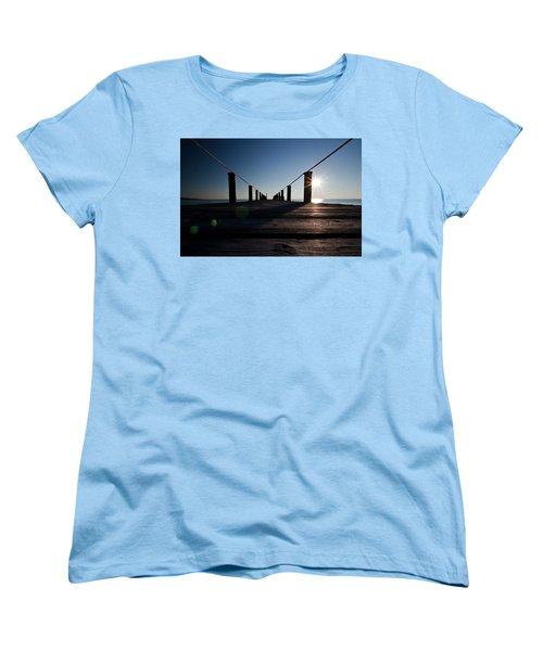Women's T-Shirt (Standard Cut) featuring the photograph Currituck Sunset by David Sutton