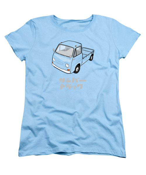 Custom Color Subaru Sambar Truck Women's T-Shirt (Standard Fit)