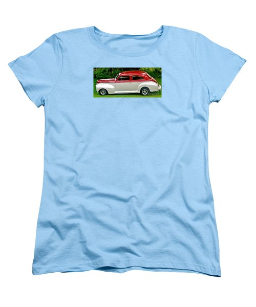 Customized Forty One Chevy Hot Rod Women's T-Shirt (Standard Cut) by Marsha Heiken