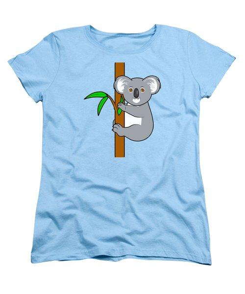 Koala With Eucalyptus Snack Women's T-Shirt (Standard Cut) by A