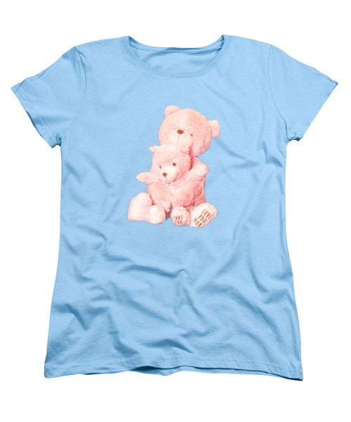 Cutout Hugging Bears Women's T-Shirt (Standard Cut) by Linda Phelps