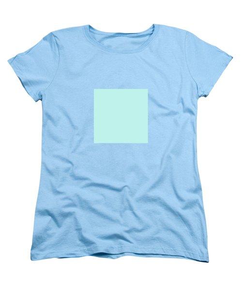 Cyan Ultra Soft Pastels Colour Palette Women's T-Shirt (Standard Cut)