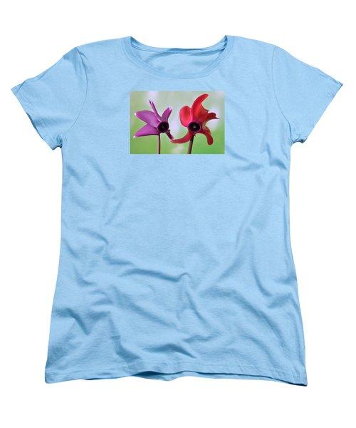 Cyclamen Duet. Women's T-Shirt (Standard Cut) by Terence Davis