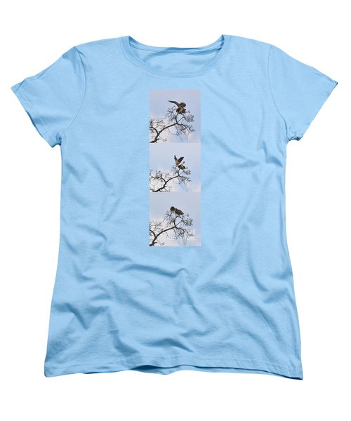 Women's T-Shirt (Standard Cut) featuring the photograph Cycle Of Life-view  Whole Screen by Debby Pueschel
