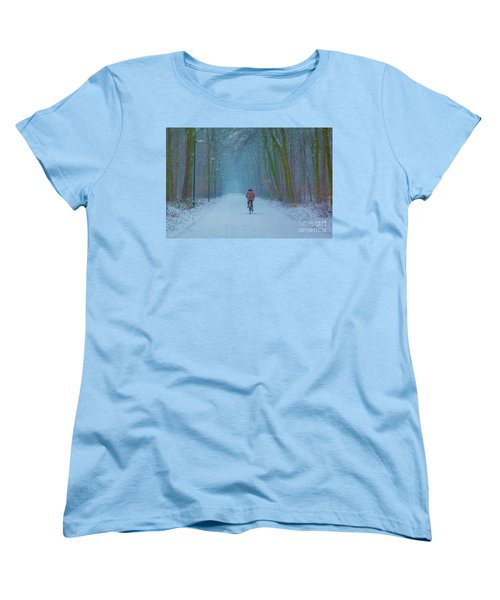 Cycling In The Snow Women's T-Shirt (Standard Cut)