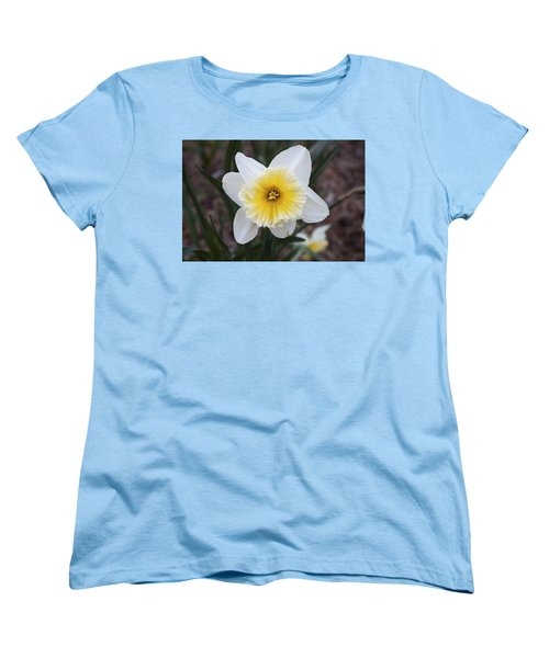 Women's T-Shirt (Standard Cut) featuring the photograph Daffodil At Black Creek by Jeff Severson