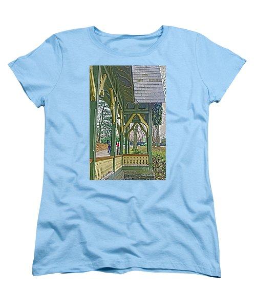 Dairy Cottage Porch Women's T-Shirt (Standard Cut) by Sandy Moulder