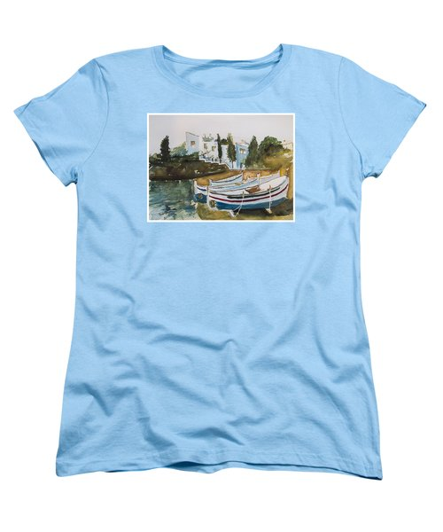 Women's T-Shirt (Standard Cut) featuring the painting Dali House From Portlligat by Manuela Constantin