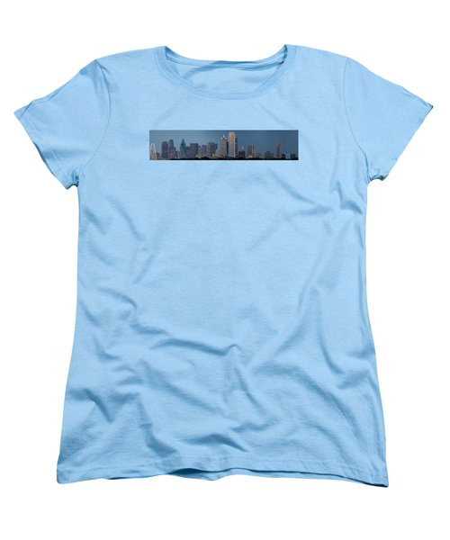 Dallas At Night Women's T-Shirt (Standard Cut) by Jonathan Davison