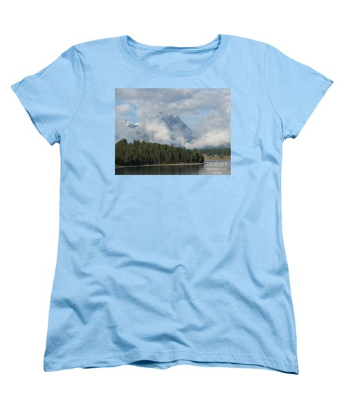 Women's T-Shirt (Standard Cut) featuring the photograph Dam Clouds by Greg Patzer