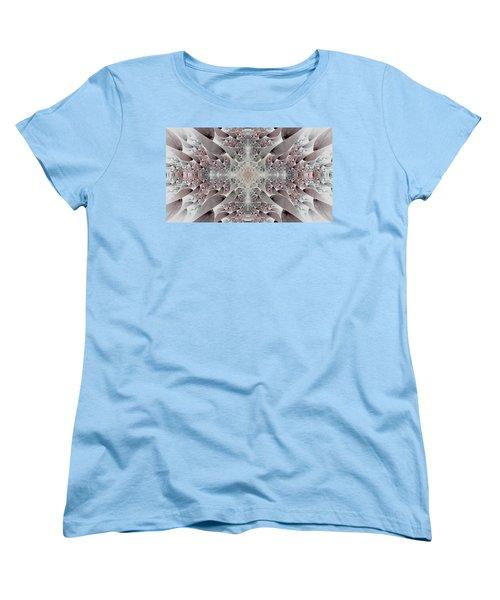 Women's T-Shirt (Standard Cut) featuring the digital art Damask by Lea Wiggins