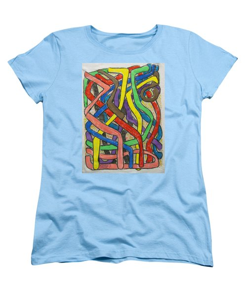 Women's T-Shirt (Standard Cut) featuring the painting London Bus Routes by Mudiama Kammoh