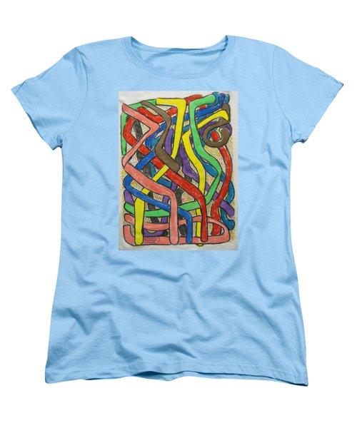 London Bus Routes Women's T-Shirt (Standard Cut) by Mudiama Kammoh