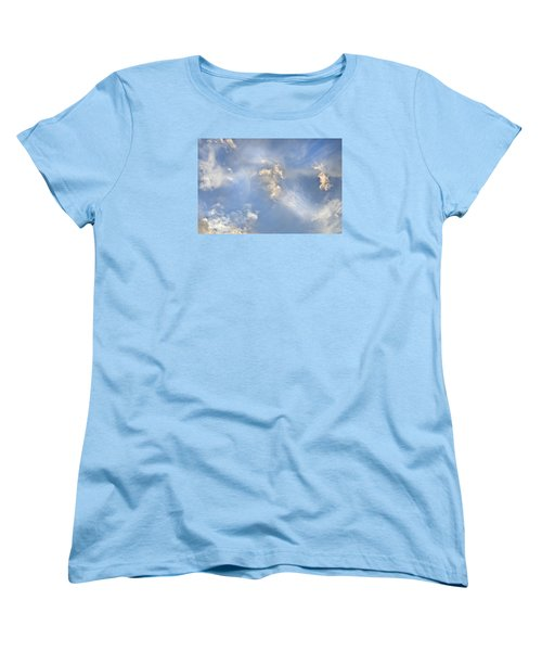 Dancing Clouds Women's T-Shirt (Standard Cut) by Wanda Krack