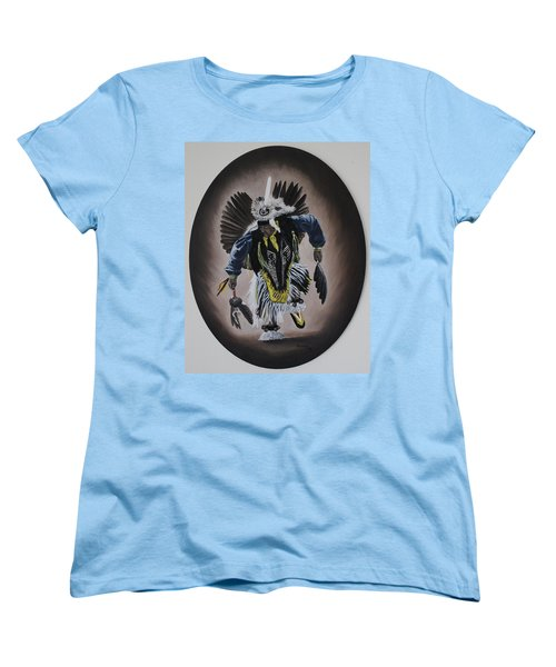 Women's T-Shirt (Standard Cut) featuring the painting Dancing In The Spirit by Michael  TMAD Finney