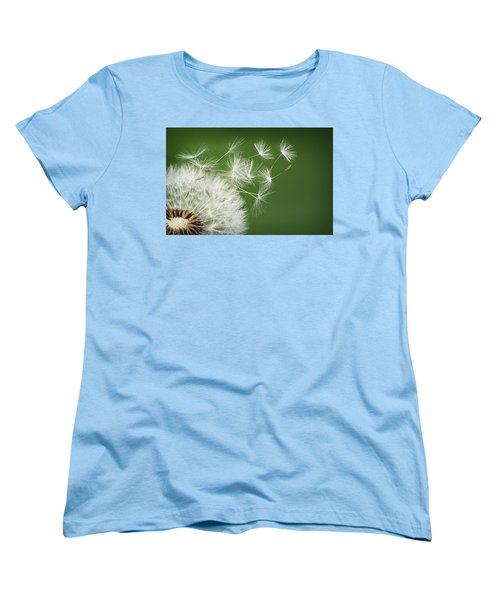 Women's T-Shirt (Standard Cut) featuring the photograph Dandelion Blowing by Bess Hamiti