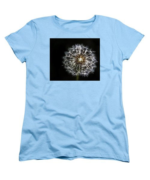 Women's T-Shirt (Standard Cut) featuring the photograph Dandelion Seed by Darcy Michaelchuk