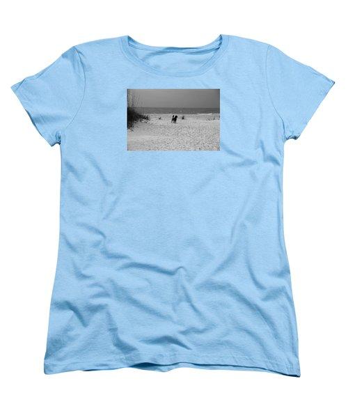 Dandy On The Beach Women's T-Shirt (Standard Cut) by Michiale Schneider
