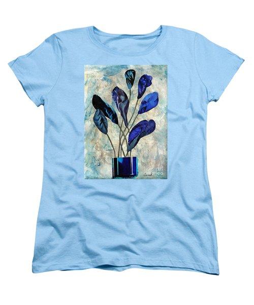 Dark Blue Women's T-Shirt (Standard Cut) by Sarah Loft