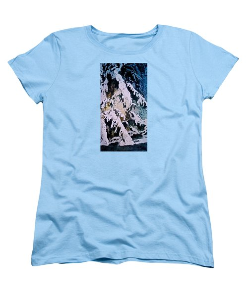 Women's T-Shirt (Standard Cut) featuring the painting Dark Cover by Carolyn Rosenberger