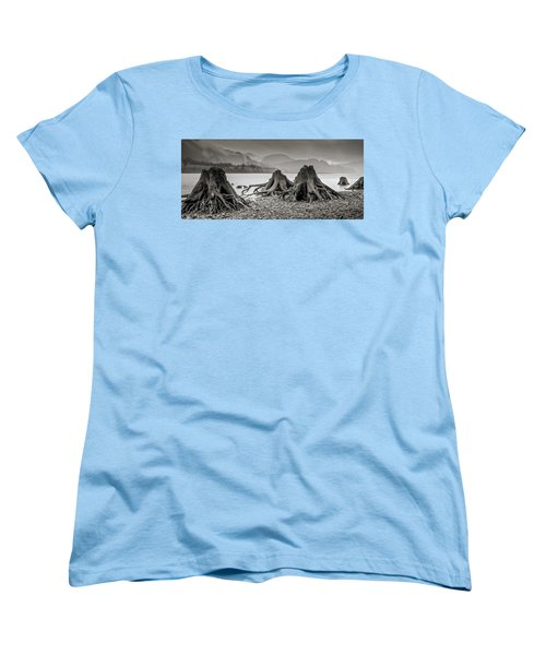 Dark Lake Women's T-Shirt (Standard Cut) by Marius Sipa