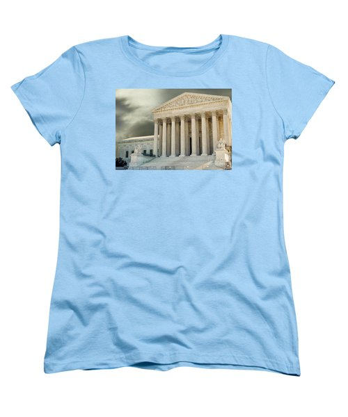 Dark Skies Above Supreme Court Of Justice Women's T-Shirt (Standard Cut) by Patricia Hofmeester