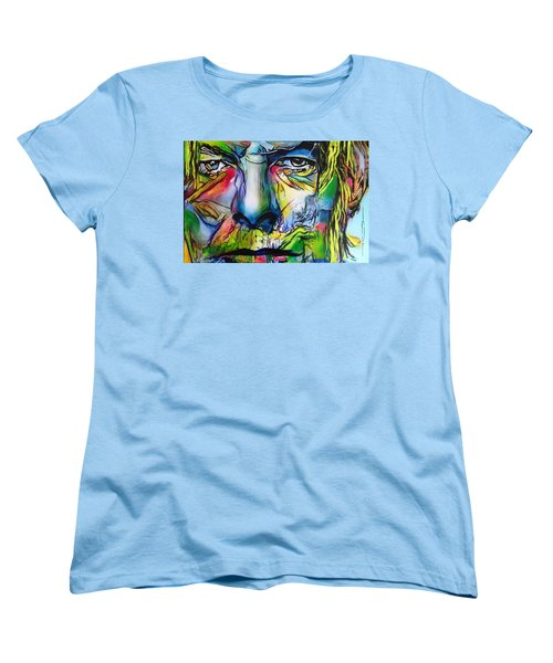 Women's T-Shirt (Standard Cut) featuring the painting David Bowie by Eric Dee