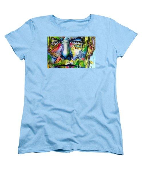 David Bowie Women's T-Shirt (Standard Cut) by Eric Dee