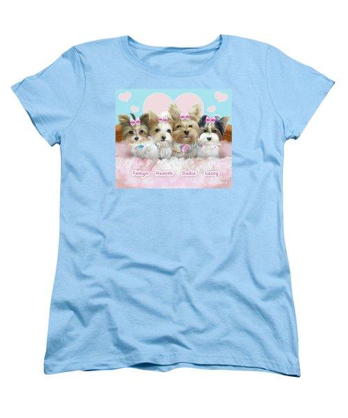 Davidson's Furbabies Women's T-Shirt (Standard Cut) by Catia Cho
